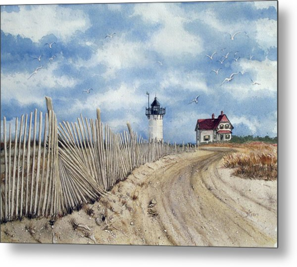 The Pole Line To Race Point Light Metal Print
