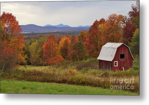 The Pretty Little Barn Eighteen Miles From Jay Peak Metal Print