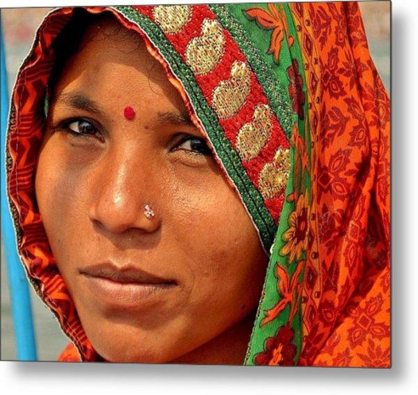 The Pride Of Indian Womenhood Metal Print