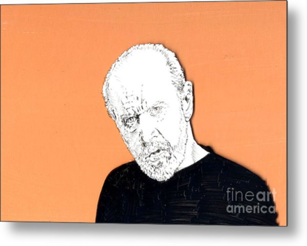 The Priest On Orange Metal Print