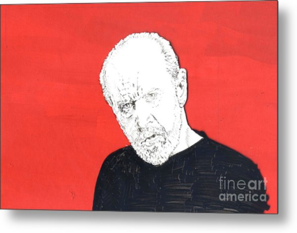 The Priest On Red Metal Print