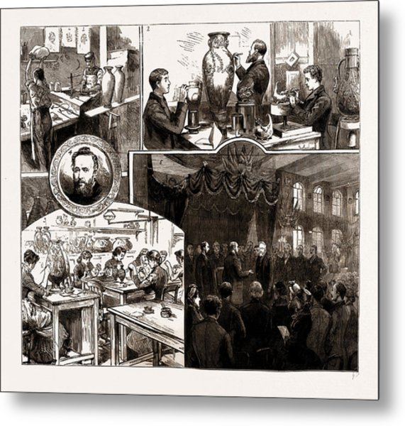 The Prince Of Wales At Messrs. Doultons Pottery Works Metal Print