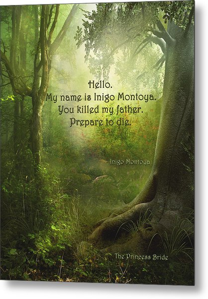 The Princess Bride - Hello Metal Print