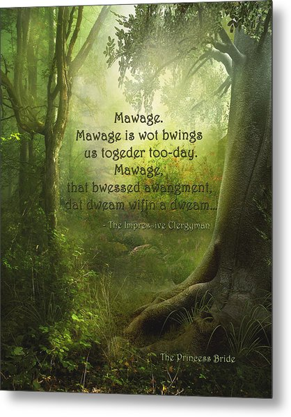 The Princess Bride - Mawage Metal Print
