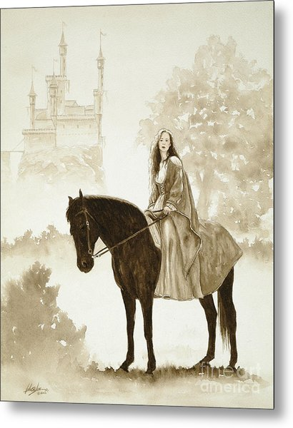 The Princess Has A Day Out. Metal Print