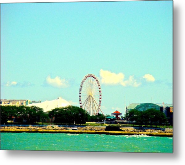 The Promise Of A Ferris Wheel Metal Print