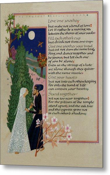 The Prophet - Kahlil Gibran  Metal Print