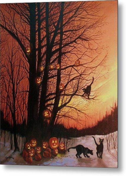 The Pumpkin Tree Metal Print