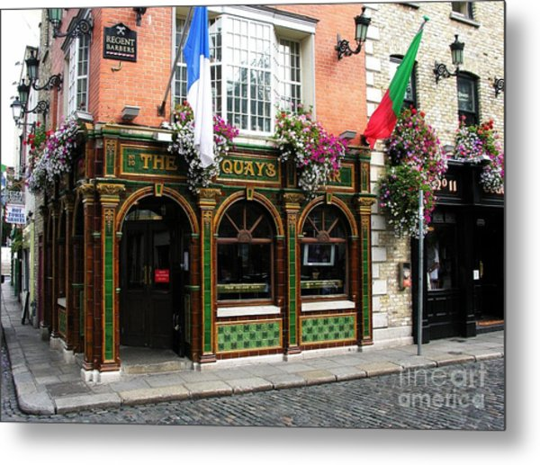 Metal Print featuring the photograph The Quays In Dublin by Mel Steinhauer