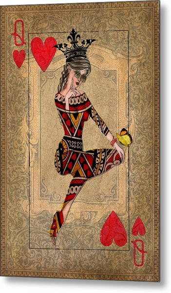 The Queen Of Hearts Metal Print