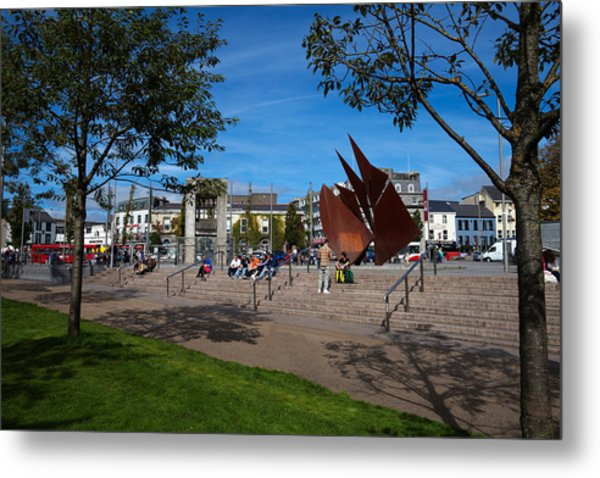 The Quincentennial Sails Sculpture Metal Print