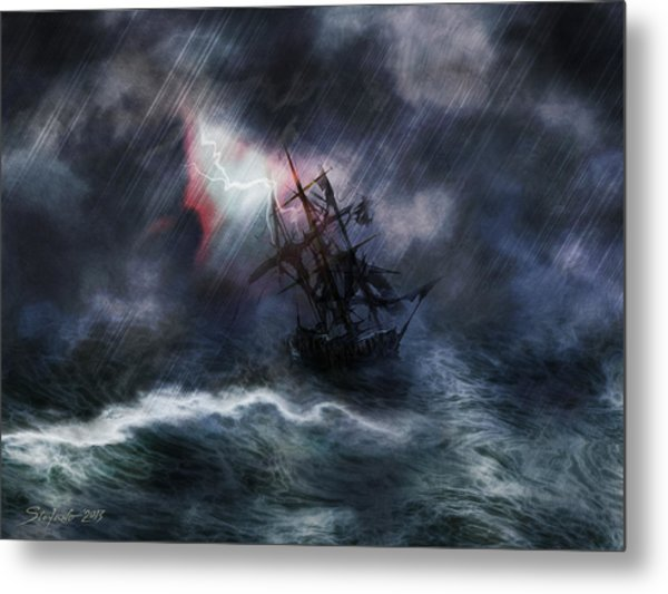 The Rage Of Poseidon II Metal Print