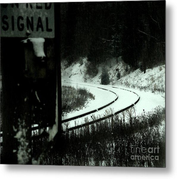 The Rail To Anywhere Metal Print