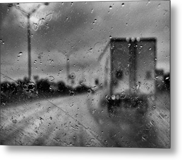The Rain Makes Mysteries Metal Print