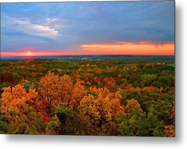 The Rain Moves In Metal Print by Julie Franco