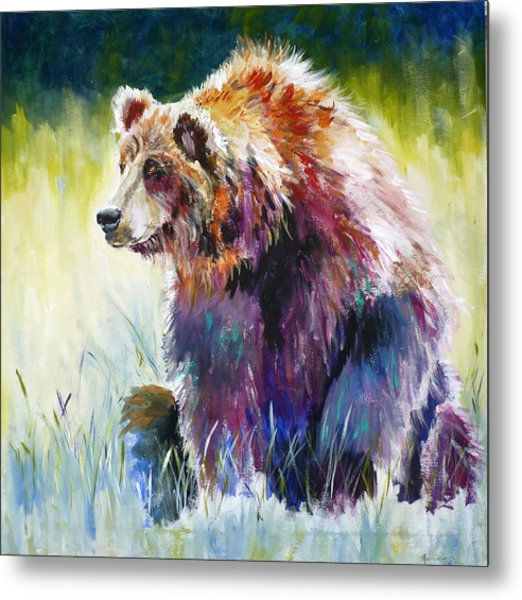 The Rainbow Bear Metal Print