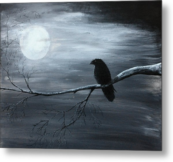 The Raven Piece 2 Of 2 Metal Print