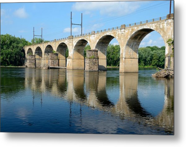 The Reading Csx Railroad Bridge At Ewing Metal Print