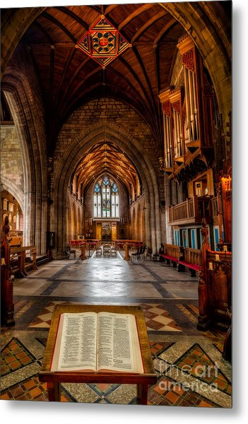 Metal Print featuring the photograph The Reading Room by Adrian Evans