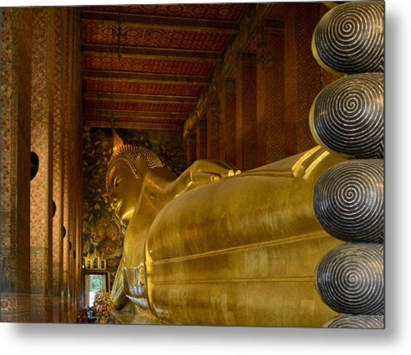 The Reclining Buddha Metal Print
