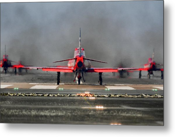 The Red Arrows Metal Print by James Lucas