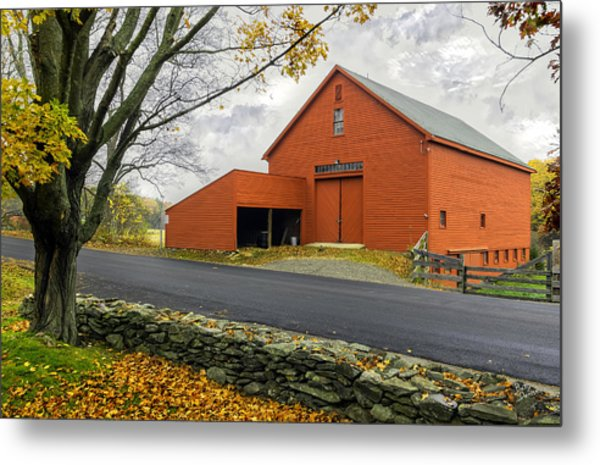 The Red Barn At The John Greenleaf Whittier Birthplace Metal Print