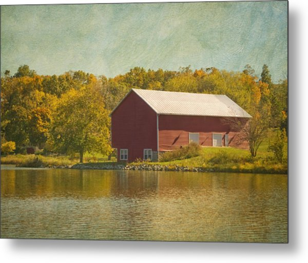 Metal Print featuring the photograph The Red Barn by Kim Hojnacki