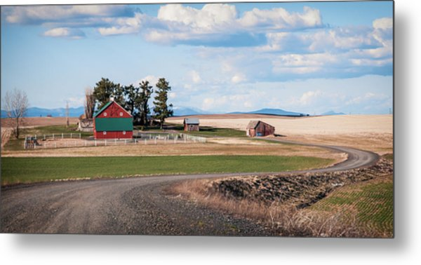 The Red Barn Metal Print by Stephen Beaumont