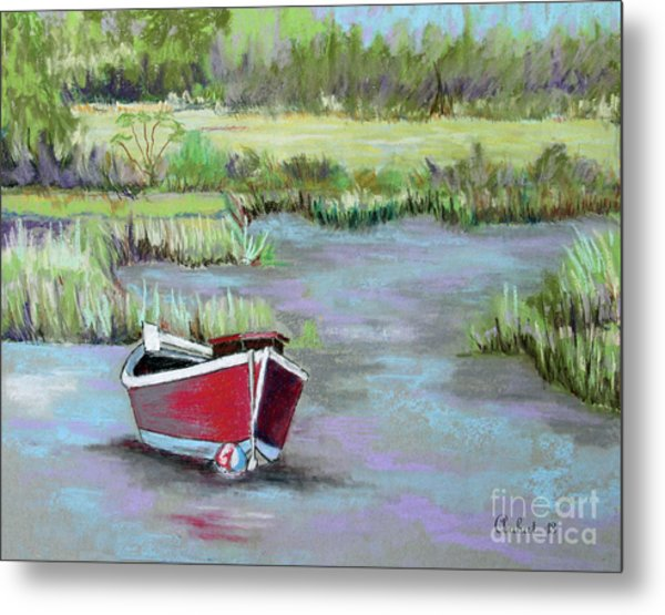 The Red Boat Chronicle  Metal Print