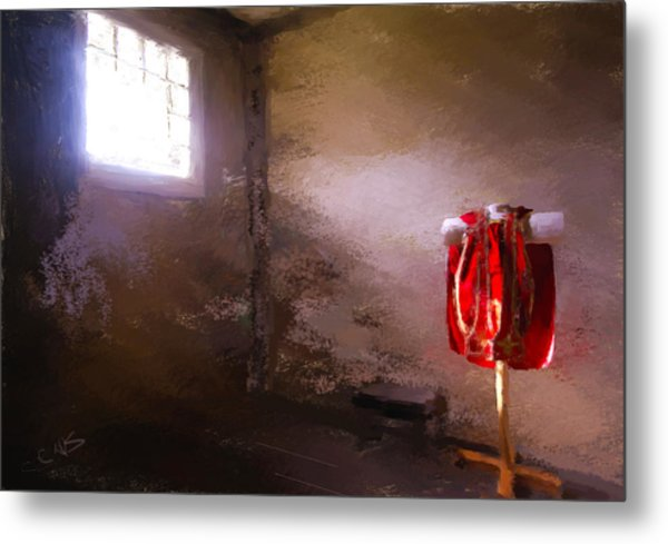The Red Cloth Metal Print