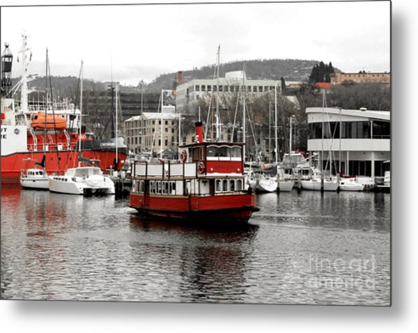 The Red Ferry Metal Print