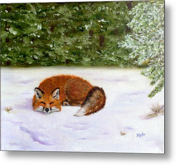 The Red Fox Of Winter Metal Print