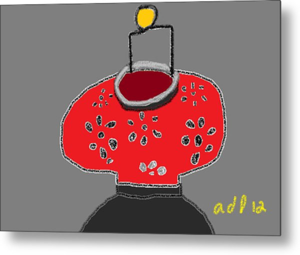 The Red Lantern Metal Print