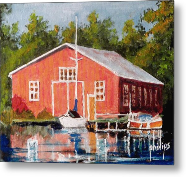 The Red Marina Metal Print