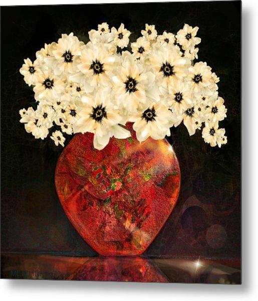 The Red Vase Metal Print
