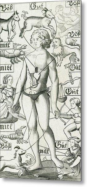 The Relationship Between The  Human Metal Print