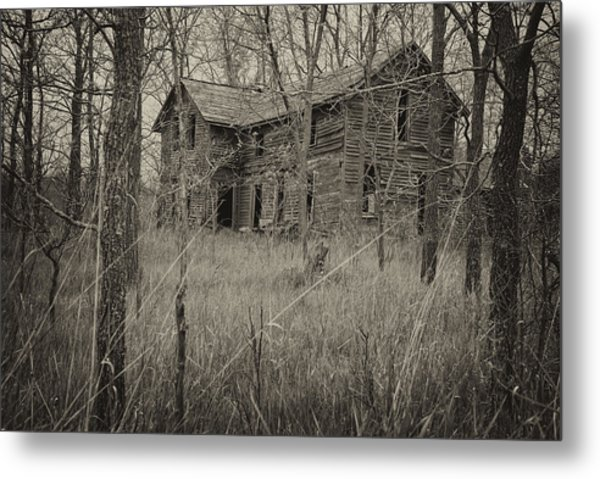 Metal Print featuring the photograph The House In The Woods by Mary Lee Dereske