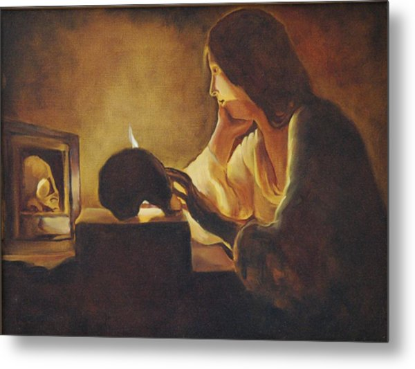 The Repentant Mary Magdalene Metal Print