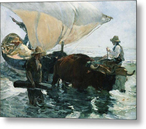 The Return From Fishing Metal Print