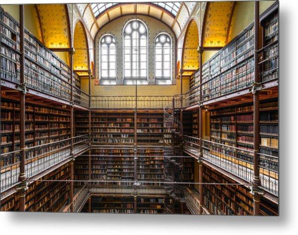 The Rijksmuseum Library Metal Print