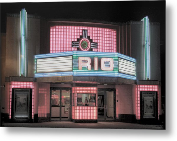 The Rio At Night Metal Print