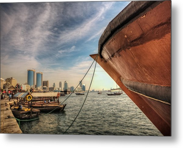 The River Of Dubai Metal Print