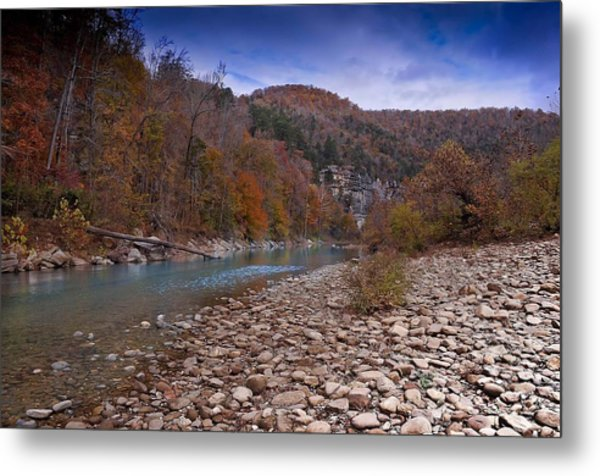 The River Runs Through Metal Print