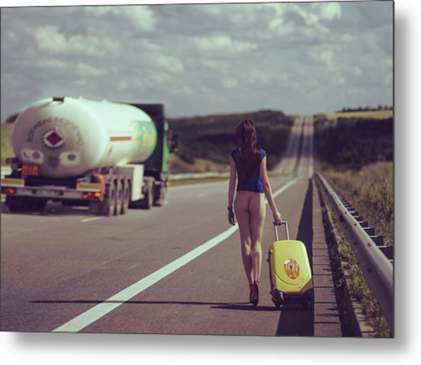 The Road.... Metal Print by Anri Croizet