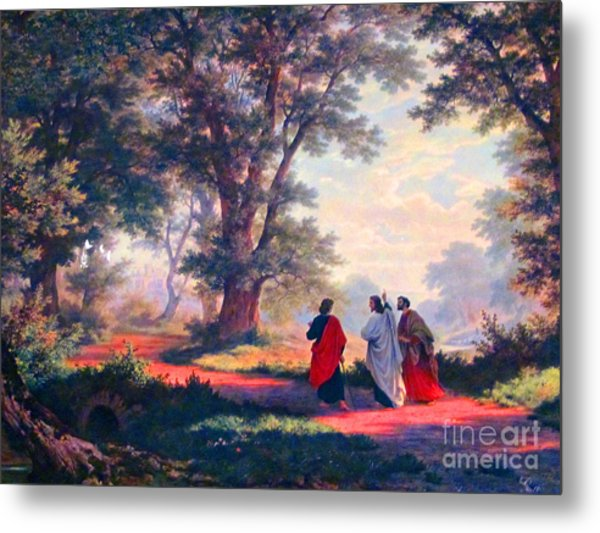 The Road To Emmaus Metal Print