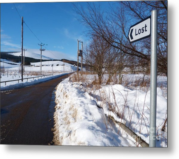 The Road To Lost Metal Print
