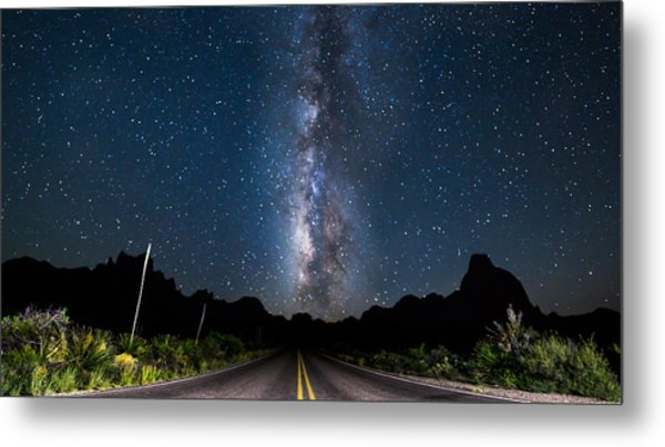 The Road To The Chisos Metal Print