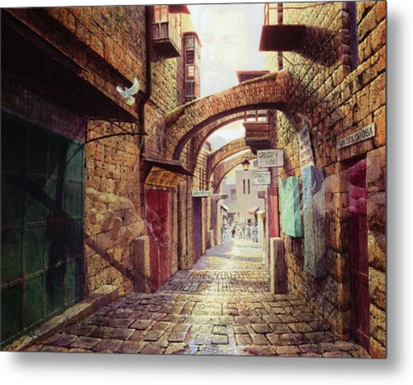 The Road To The Cross  Jerusalem Metal Print