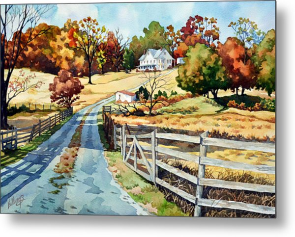 The Road To The Horse Farm Metal Print