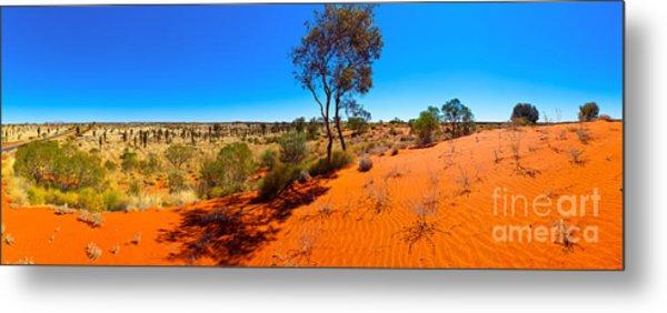 The Road To Uluru Metal Print